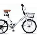20インチ折畳自転車 M-204MERRY-W(ホワイト)マ...
