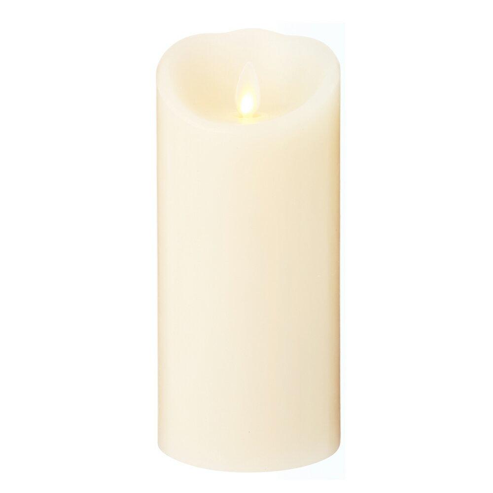 NEWLUMINARA/ルミナラLEDキャンドルライト(無香)Mサイズ アイボリーB0307-00-20-IV 3×6ピラー乾電池使用 キャンドル型 LEDライト タイマー インテリアライト 結婚式 パーティー クリスマス プレゼント