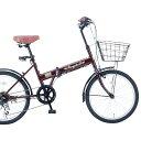20インチ折りたたみ自転車FB-206R 35650 ブラウ...