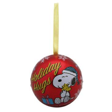 スヌーピー オーナメント缶 チョコレート2個入りスヌーピー グッズ オーナメント クリスマス ミニオーナメント ボール 飾り お菓子 キャラクター チョコレート チョコ