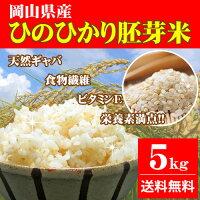 28年産岡山県産ひのひかり胚芽米5kg送料無料