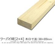 ツーバイ材[2×4]木口寸法38×89mm