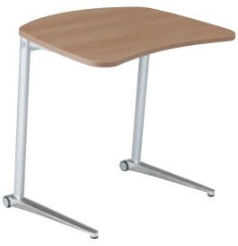 シフト:Shiftテーブル、800W、傾斜タイプ、ポリッシュ、幕板なし