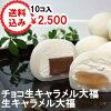 生チョコ大福とチョコ生キャラメル10個入り送料無料2500円