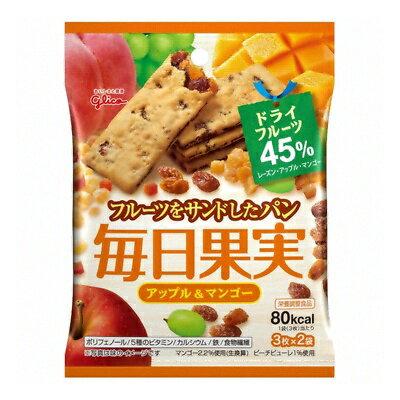 (お買い得)グリコ 毎日果実<アップル&マンゴー> 6枚(3枚×2袋) 80コ入り