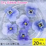 (全国送料無料)食べられる押し花ドライエディブルフラワービオラ(水色)20枚入り食用花ドライフラワー有限会社トムメール便(omtmb6255)