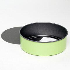 フッ素加工 グリーンカラーセパトデコレーション型 18cm  #3805  スポンジケーキ型