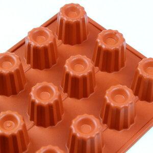 イタリア製のシリコン型 シリコンモールド ケーキ型 売れ筋シリコンフレックス カヌレ型18...