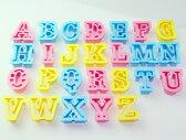 プラスチック クッキー抜き型  アルファベット 26組 #1733 クッキー型 クッキーカッター 型抜き