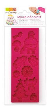 SC シリコンモールド Nol/Xmas(ノエル/クリスマス)REF3441 シュガークラフト シリコン型 チョコ チョコレート型 モルド お菓子 ショコラ