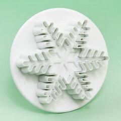 シュガーアート用ツール(道具)PME プランジャー Snowflake(雪の結晶)S SF705 抜き型 ...