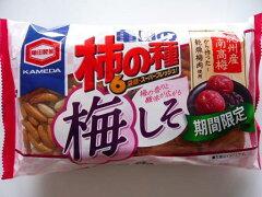 亀田  柿の種 梅しそ 6P 12入(期間限定)