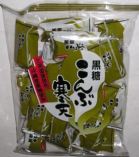 【心ばかりですが…おまけつきます☆】小林製菓黒糖こんぶ寒天190g×12袋入
