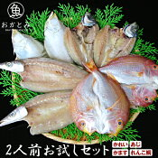 【送料無料】地魚干物2人前お試しセット