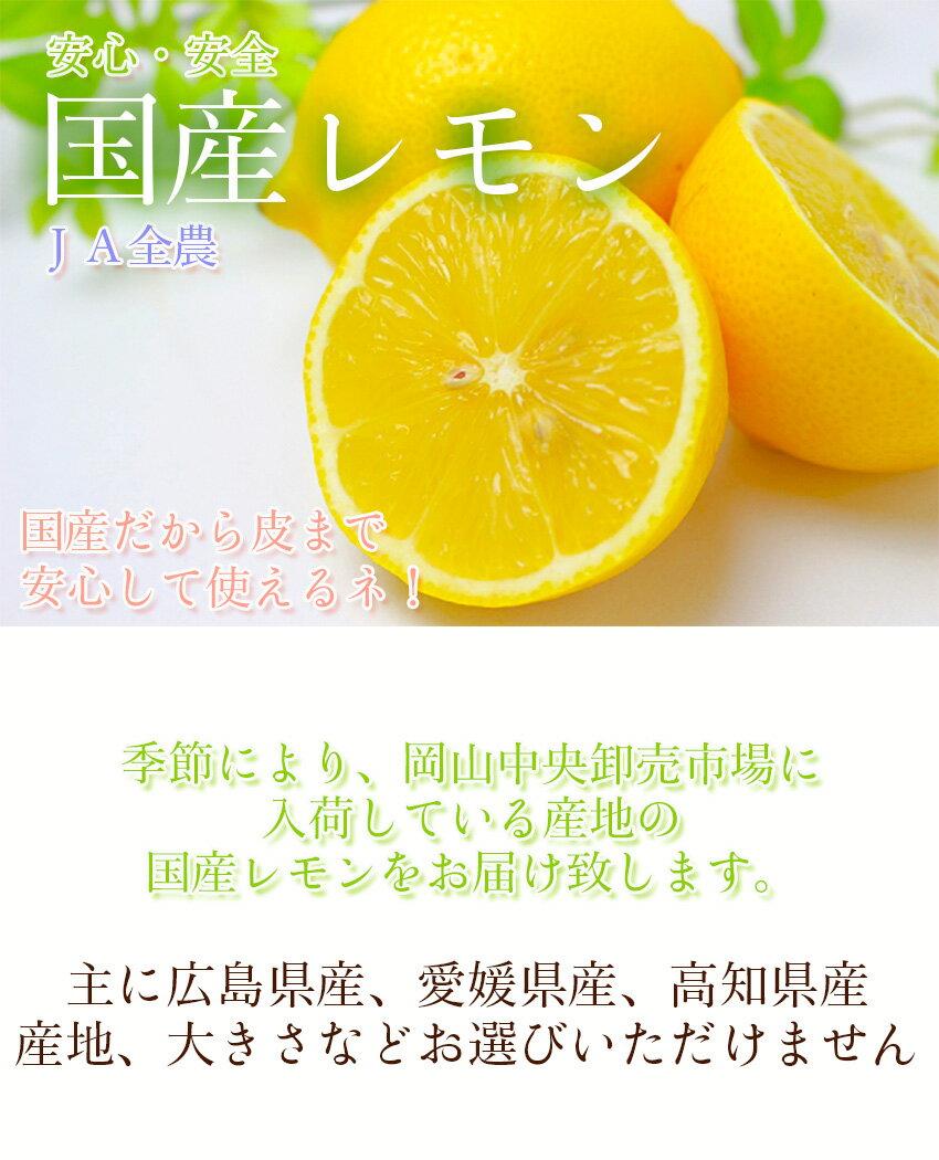 \国産レモン/2.5kgJA全農など市場から直送安心安全ノーワックス防腐剤不使用(減農薬)蜂蜜漬け塩レモンレモネードプレゼント【岡山果物工房】只今グリーンレモンになります