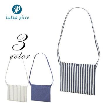 メンズ・レディース コットンツイル サコッシュ 【KUKKA PILVI】 シンプル 無地 ファッション おしゃれ