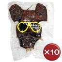 チラガーとは、豚の顔皮のこと。コリコリとした食感で、美容に嬉しいコラーゲンたっぷり。お酒のおつまみ、沖縄土産にもおすすめ。|ブラック・チラガー|送料無料【送料無料】オキハム ブラック・チラガー 10枚セットコラーゲンがたっぷり|美容[食べ物>お肉>チラガー]