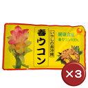 比嘉製茶 春ウコン粉(袋入) 100g 3袋セットクルクミン・マグネシウム[健康食品>サプリメント>ウコン]