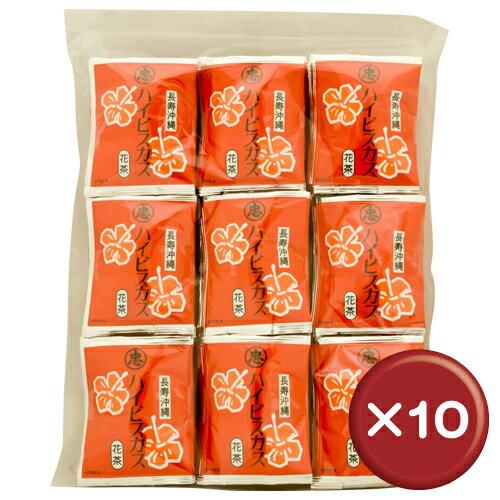 比嘉製茶 ハイビスカスティー ティーバッグ(100袋入り) 10袋セットクエン酸・ビタミンC||[飲み物>お茶>ハイビスカス茶]:沖縄CLIPマルシェ