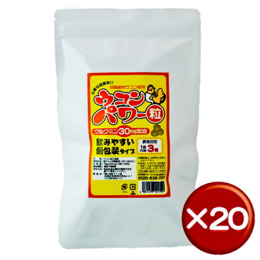 【送料無料】ウコンパワー 30包(袋) 20袋セットクルクミン|飲み会[健康食品>サプリメント>ウコン]