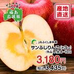 【被災地復興応援企画】福島のりんご「サンふじりんご」約3kg(8〜10玉)【福島県産】【送料無料】12月上旬〜12月中旬頃の発送になります。【りんご サンふじりんご 福島 果物】