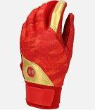 アンダーアーマー野球打者用バッティング手袋両手用レッドXMゴールドLG1354263送料無料
