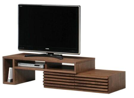 【送料無料】119伸縮TVボード2Pテレビボード幅119cm(レッドオーク)TVボードテレビ台TV台リビング収納ウォールナット完成品