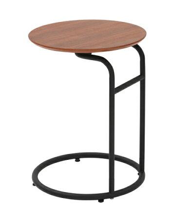 サイドテーブルアイアンテーブルアイアンかわいいブラックウオールナット突き板