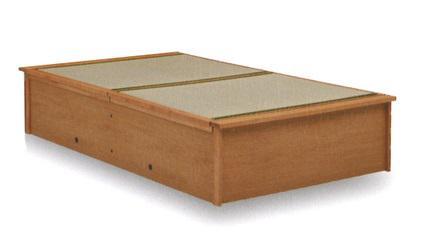 タタミシングルベッドシーダーすのこオーク無垢材モダンシンプルフレームのみ送料無料畳ベッドたたみベッドブラウン