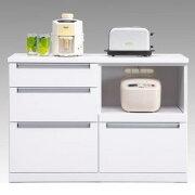 キッチンタウンターハイカウンター幅139cmレンジ収納キッチン収納ホワイトエナメル
