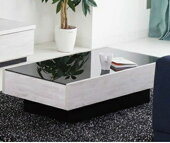 テーブルセンターテーブルガラステーブルローテーブルおしゃれ幅105cm引出し付おしゃれ北欧