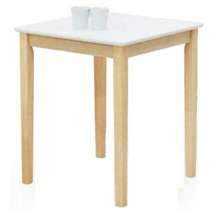 テーブル ダイニングテーブル 幅60cm 角 CS ホワイト&クリアナチュラル 北欧 木製 正方形 北欧 おしゃれ 人気