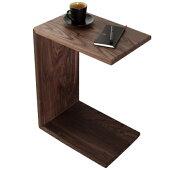 サイドテーブルナイトテーブルキャスター付き幅45cmウォールナット木製北欧おしゃれ人気