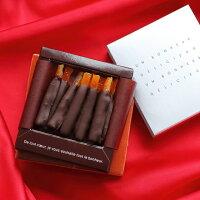 バレンタイン チョコ フルーツチョコレート オランジェット ギフト 友チョコ 本命チョコ 人気 予約 カトルフィユ 広島 手提げ袋付き VD
