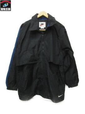 NIKE 90年代 タイ製ビッグスウォッシュ ナイロンジャケット(L)白黒青【中古】[値下]