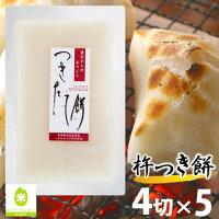 杵つき餅 新潟産 こがねもち100% 「白餅4切(220g)×5パック」送料無料 【餅】