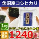 【米】魚沼産コシヒカリ1kg【送料無料】【29年産新米】【お試し】【DM便】
