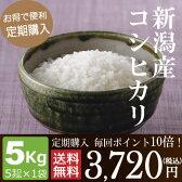 【定期購入】毎回ポイント10倍!新潟産コシヒカリ5kg(5kg×1袋)
