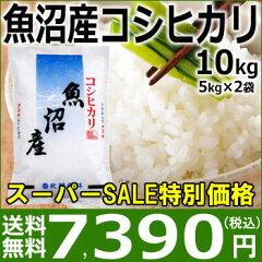【楽天スーパーSALE特別価格】【送料無料】27年産 魚沼産コシヒカリ10kg(5kg×2袋)…