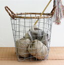 PUEBCO[プエブコ]RATTAN TOP WIRE BASKET(M)