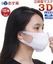 3Dマスク 大人マスク 使い捨て 10枚 3層構造 白 3Dマスク 立体型マスク 不織布マスク 飛沫 防塵 ウイルス対策 花粉症対策 白色 OPP袋入り  16時までのご注文は即日発送