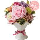 母の日ギフトエステラプリザーブドフラワー【メーカー直送】バラあじさいフラワー花ピンクホワイトグリーンパープルプレゼントお母さん母親贈り物