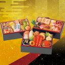 商品画像:こだわり食材マーケットの人気おせち楽天、割烹料亭「千賀」監修「金千華」参段重(和風/冷蔵/おせち料理)