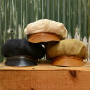 マローネ 本革 キャスケット帽 秋 冬 帽子 メンズ レディース 紳士帽 大きいサイズ イタリアブランド キャップ ハンチング帽 M L XL XXL ブラック 黒色 ギフト プレゼント 送料無料 父の日 あす楽 イタリア製 MARONE ブリストルラムスキン BN125
