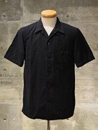 """FREEWHEELERS(フリーホイーラーズ)S/Sオープンカラーシャツ""""Willie""""ドビーストライプブラック"""
