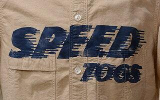 """FREEWHEELERS(フリーホイーラーズ)S/Sワークシャツ""""SPEEDTOGS""""ヤーンダイド・オックスフォードゴールデン・ストロー"""