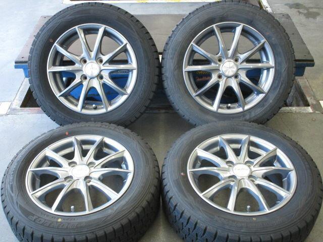 中古ホイールタイヤ 4本セット 175/65R14社外 ユーロマックス 14x5.5J+45 4H100 中古 スタッドレス タイヤ トーヨー ガリット GIZ2