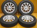 中古ホイールタイヤ 4本セット 145/80R13社外 ウェッズ ジョーカー 13x4J+45 4H100 中古 スタッドレス タイヤ ブリヂストン ブリザック VRX