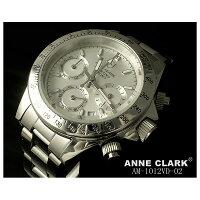 ANNECLARK(アンクラーク)レディースクロノグラフ腕時計AM-1012VD-02