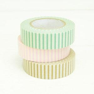 プリントマスキングテープ3色セット(ストライプ)